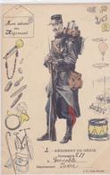 Cpa-militaria-4ème Regiment Du Genie, Cie 811 A Grenoble-soldat-illustrateur - Régiments