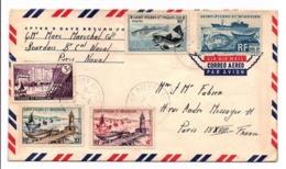 Lettre 5 Timbres SAINT-PIERRE ET MIQUELON - St.Pierre Et Miquelon