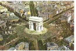 75 Paris Arc De Triomphe  Vue Aerienne  Vieux Vehicules Arbres - Arc De Triomphe