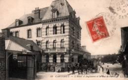 CPA - CARTERET - L'HOTEL D'ANGLETERRE Et La RUE De PARIS - Edition L.L. (trace Pli Au Centre En L'état) - Carteret