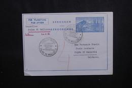 BELGIQUE - Aérogramme De Bruxelles Pour Palma De Mallorca En 1956 Par 1er Vol - L 54048 - Stamped Stationery