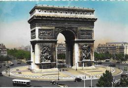 75 Paris Arc De Triomphe  Vieux Vehicules Arbres - Arc De Triomphe