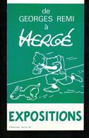 HERGE - TINTIN - Invitation Exposition En 1984 ( 1ère Expo Après Décès Hergé ) - Objets Publicitaires