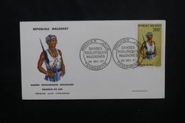 MADAGASCAR - Enveloppe FDC En 1967 - Danse Folklorique - L 54053 - Madagascar (1960-...)
