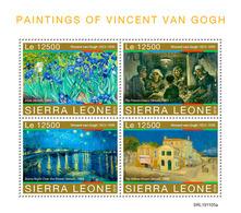 Sierra Leone 2019   Paintings Of Vincent Van Gogh  S201912 - Sierra Leone (1961-...)