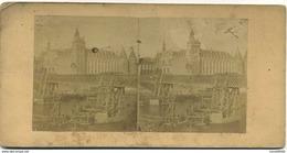Carte Stereo Paris Palais De Justice Photo Lecocq Frene Vers 1860 Rare - France