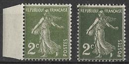 France - 1932/37 - Type Semeuse  - 2 C.  (vert Clair/vert Foncé) - Y&T N°278 ** Neuf Luxe ( Gomme D'origine Intacte) - France