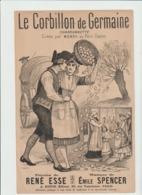 (MUSI2) LE CORBILLON DE GERMAINE , MONSY , Paroles RENE ESSE ; Musique EMILE SPENCER - Partitions Musicales Anciennes