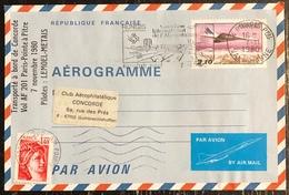 Premier Vol - Concorde - Air France - Aérogramme - Pointe à Pitre - Paris - 1980 - Concorde