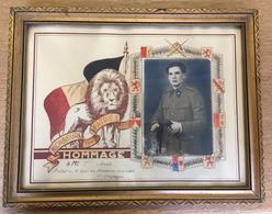 Hommage Avec Photo  Chasseurs Ardennais  1940 - Dokumente