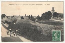 49 - Grézillé - Panorama Vers L'Eglise - Vue Générale - LV 4 - France
