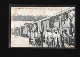 C.P.A. DU DEPART DES MOBILISES DANS UN TRAIN A LA GARE D ANNONAY 07 - Annonay