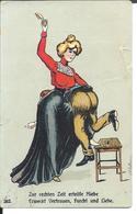 RARE : La FESSÉE (1908) Femme Fessant Son Homme - Zur Rechten Zeit Erteilte Hiebe ... - Other