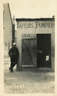 RPCP :Saint Nazaire, Fire Depot , Brandweer, Feuerwehrauto,Fire, Photo Of Old Postcard, 2 Scans - Automobiles