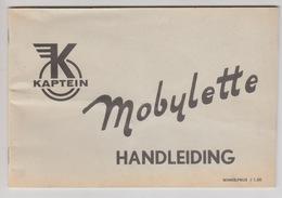 Kaptein Mobylette Handleiding Nederlands NL 1965 - Motorfietsen