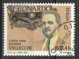 """PIA -  ITALIA  - 2003 : Centenario Della Pubblicazione Della Rivista """"Leonardo""""   -  (SAS  2709) - 6. 1946-.. Republic"""