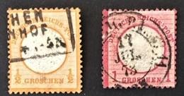 1872 Adler Mit Großem Brustschild Mi.18 + 19 - Used Stamps