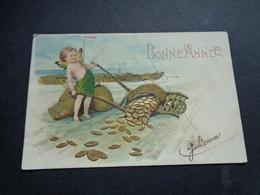 Ange ( 194 )  Engel  Angelot - Carte Gaufrée  Reliëf - Anges
