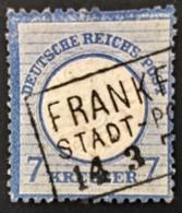 1872 Adler Mit Großem Brustschild Mi.26 Kastenstempel Frankfurt Stadt-Post - Allemagne
