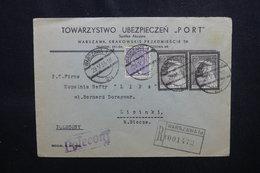 POLOGNE - Enveloppe Commerciale En Recommandé De Warszawa Pour Lipinki En 1935, Affranchissement Plaisant - L 54074 - 1919-1939 République