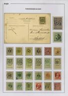 Diverse Gestempelde Zegels Met Postbode Stempels - 1869-1883 Leopold II