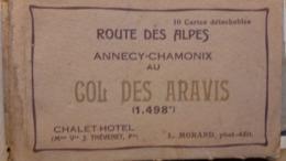 Carnet De 10 Cartes Postales Annecy, La Route Des Alpes, Et Le Col Des Aravis. - Annecy