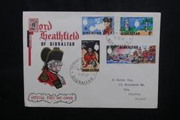 GIBRALTAR - Enveloppe FDC En 1967 - Général Eliott - L 54076 - Gibraltar