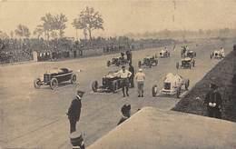 GRAN PREMIO DE ITALIA 1924.- OTRA VISTA DE COCHES ALINEADOS, PARA TOMAR LA SALIDA - Grand Prix / F1