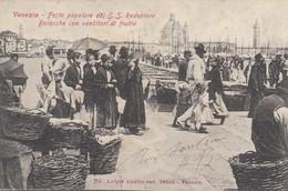 Veneto - Venezia - Festa Popolare Del S.S. Redentore- Baracche Con Venditori Di Frutta  - F. Piccolo - Molto Bella - Venezia (Venice)