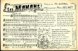 Poésie DeTh. BOTREL     Chanson  Les Mamans - Cartes Postales
