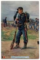 CPA Militaria - En Guerre - K.5. Génie. Construction D'une Tranchée - L.V.C - Reggimenti