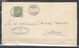 Mi 32 Sur Lettre De Basel Briefexpedition à Waldshut (Allemagne) - 17 JAN 1877 - Briefe U. Dokumente