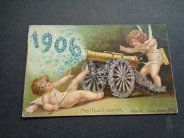 Enfants ( 4327 ) Enfant   Kinderen   Kind   -  Carte Gaufrée   Reliëf  -  Ange   Angelot  Année 1906 - Anges