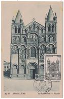 1945 - TIMBRE N° 663 Sur CARTE MAXIMUM De LA CATHÉDRALE D' ANGOULÈME Avec OBLITERATION DERNIER JOUR CAD CHARENTE - 1940-49