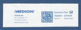 Deutsche Post FRANKIT - 0,70 EUR 2017 - 3D03000960 - ESSEN, MEDION AG - Informatik