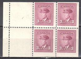 Canada 1943 - Mi.H-Bl.42 - MNH(**) - Full Panes