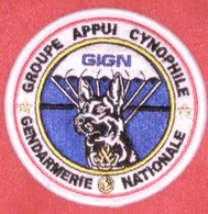 Ancien écusson  Groupe A Ppui Cynophile  GIGN - Police & Gendarmerie