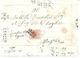 3075z6: Österreich- Südtirol Trentino 1850, ANK 3 MP III B Auf Briefvorderseite Cles> Margreit - Non Classés