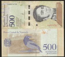 Venezuela 500 Bolivares January 2018 Pick 108 UNC - Venezuela
