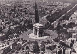 75,PARIS,ARC DE TRIOMPHE,CARTE PHOTO AERIENNE GUY ET R HENRARD,PILOTE ET PHOTOGRAPHE - Arc De Triomphe