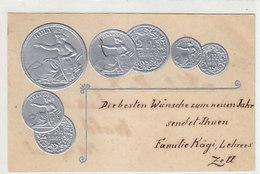 Die Schweizer Silbermünzen - Helvetia - Prägekarte - 1901   (P-219-90515) - Monnaies (représentations)
