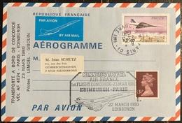 Premier Vol - Concorde - Air France - Aérogramme - Paris - Edinburgh - 1980 - Concorde