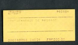 """Ticket De RER - SNCF 1999 """"Contremarque De Passage - Gare De Poissy"""" Ile-de-France - Chemins De Fer"""