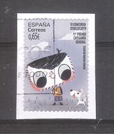 España 2020 - 1 Sello Usado Y Circulado-Premio Al Concurso Disello-Categoría General-Espagne Spain Spanien Spagna - 1931-Today: 2nd Rep - ... Juan Carlos I