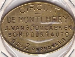 Jeton - Token - Circuit De MONTLHERY - BELGIQUE - Bon Pour 1 Auto - Notgeld
