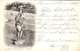 Carte 1899 PAR ND PHOT / TYPES ALGERIENS / LAVANDIERES A L'OUED KANTARA - Algérie