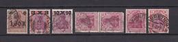 Deutsches Reich - 1921/22 - Michel Nr. 154/55+157+197/98 - Gest. - 21 Euro - Gebraucht