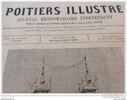 1887 POITIERS ILLUSTRÉ - EXPOSITION DE TOULOUSE - LES CANDIDATS À L'ÉCOLE DE SAINT CYR - CANAL MARITINE DE CORINTHE - Journaux - Quotidiens
