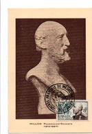 ALGERIE CARTE MAXIMUM 1955 E. MILLION PHARMACIEN-CHIMISTE - Cartoline Maximum