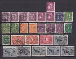 Deutsches Reich - 1921/22 - Michel Nr. 183/87+189+191+193/96 - Ungebr./Postfrisch/Gest. - Gebraucht